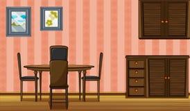 一套木家具 向量例证