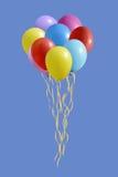 一套的例证五颜六色的气球 免版税库存图片