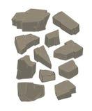 一套石头动画片 免版税库存图片