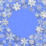 一套简单的各种各样的几何雪花 向量例证