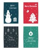 一套色的圣诞卡 免版税库存照片