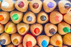 一套色的铅笔 库存照片
