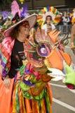 一套马服装的执行者在狂欢节 免版税图库摄影