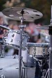 一套鼓和铙钹 库存照片