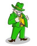 一套绿色衣服的富人 免版税图库摄影
