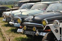 一定数量的老苏联汽车GAZ-21 免版税库存图片