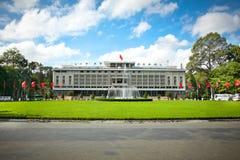 统一宫殿在胡志明市,越南 库存图片