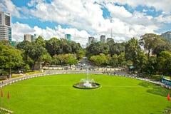 从统一宫殿的看法在胡志明市,越南 图库摄影