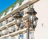 一家五星旅馆的装饰设计在Kranevo,保加利亚 免版税库存照片