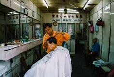 一家传统理发店在婆罗洲 免版税库存照片