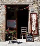 一家典型的托斯坎餐馆,意大利 免版税库存图片