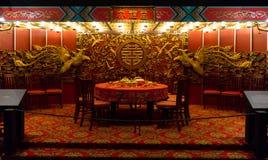 一家典雅的餐馆在香港,中国 免版税库存照片