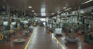 一家大工厂的生产地板 影视素材