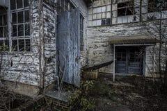 一家工厂的外部有门户开放主义的 库存图片