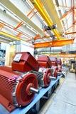 一家工厂的建筑学和设备机械engineeri的 库存照片
