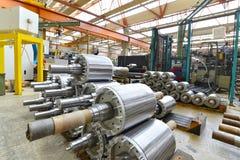 一家工厂的建筑学和设备机械engineeri的 免版税库存照片