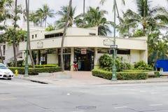 一家捕鲸船百货商店的外视图在夏威夷的 免版税库存照片