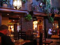 一家砖被围住的墨西哥餐馆,棕榈点心,加利福尼亚,美国 免版税图库摄影