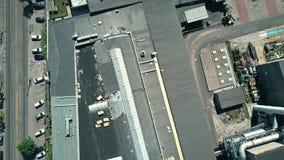 一家老工厂的空中下来上面视图 免版税库存照片