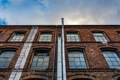 一家老工厂的门面 免版税库存图片