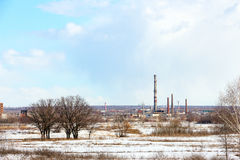 一家被放弃的工厂的图象 免版税库存图片