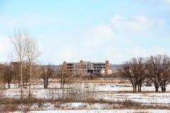 一家被放弃的工厂的图象 免版税图库摄影