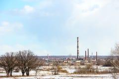 一家被放弃的工厂的图象 库存图片