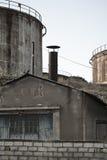 一家被放弃的工厂的细节 图库摄影