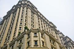 一家银行的建筑学细节在中国 免版税库存照片