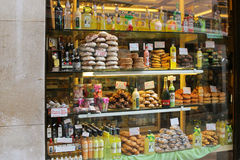 一家面包点心店在威尼斯,意大利 免版税库存图片