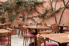 一家餐馆的露台马略卡的 库存图片