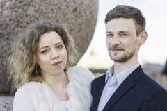 一对夫妇的画象在步行的 图库摄影