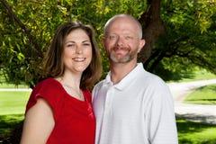 一对已婚夫妇的纵向 免版税库存照片