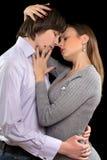 一对热情的夫妇的画象 库存照片