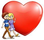 一对爱恋的夫妇 向量例证