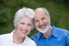 一对爱恋的资深夫妇的画象 免版税库存照片