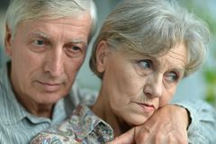 一对更旧的夫妇的画象 免版税图库摄影