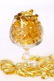 一小团玻璃金子 免版税库存照片