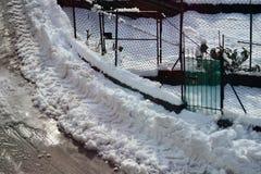 一少许温暖在降雪以后 免版税库存照片