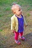 一岁的女孩 库存图片