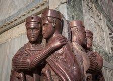 一州的四分之一的领主-四个罗马皇帝斑岩雕塑,囊 免版税库存照片