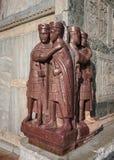 一州的四分之一的领主-四个罗马皇帝斑岩雕塑  免版税库存图片