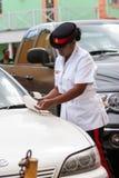 一巴哈马群岛的妇女警察的画象 免版税图库摄影