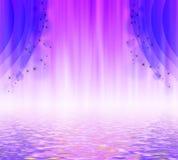 一幅紫色帷幕的例证 免版税库存图片