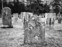 一座公墓在新英格兰 图库摄影