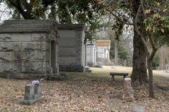 一座公墓在达拉斯,得克萨斯 免版税库存图片