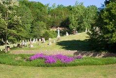 一座农村公墓 免版税库存图片