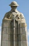 一座加拿大战争纪念碑的正面图特写镜头 库存照片
