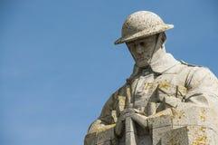 一座加拿大战争纪念碑的特写镜头 库存照片