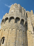 一座历史的城堡的塔 免版税库存图片